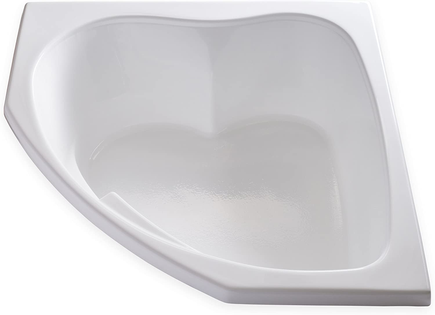 Carver Tubs – SKC5555-55 L x 55 W x 18.5 H – White Drop In Corner Two Person Soaking Bathtub