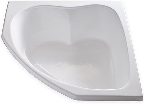Carver Tubs – SKC5555-55 L x 55 W x 18.5 H – White Drop In Corner Two Person Soaking Bathtub