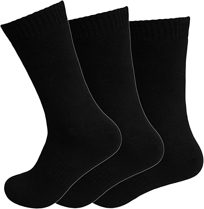 Chaussettes thermiques pour femme Noir Paire de 12