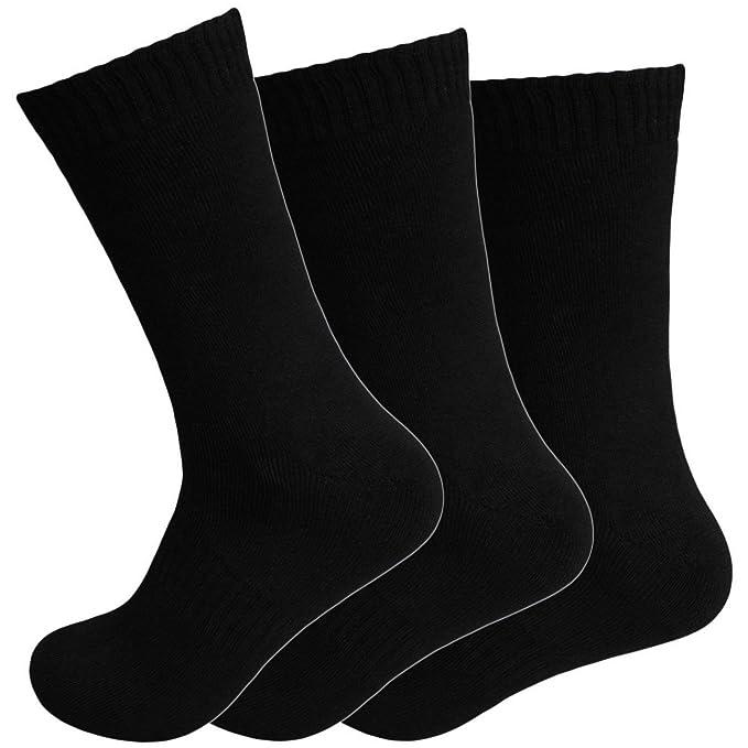 12 Pares Calcetines Térmicos Mujer Medias negro Invierno cálido Talla 35 - 42 - Negro, Negro, 39 - 42: Amazon.es: Ropa y accesorios