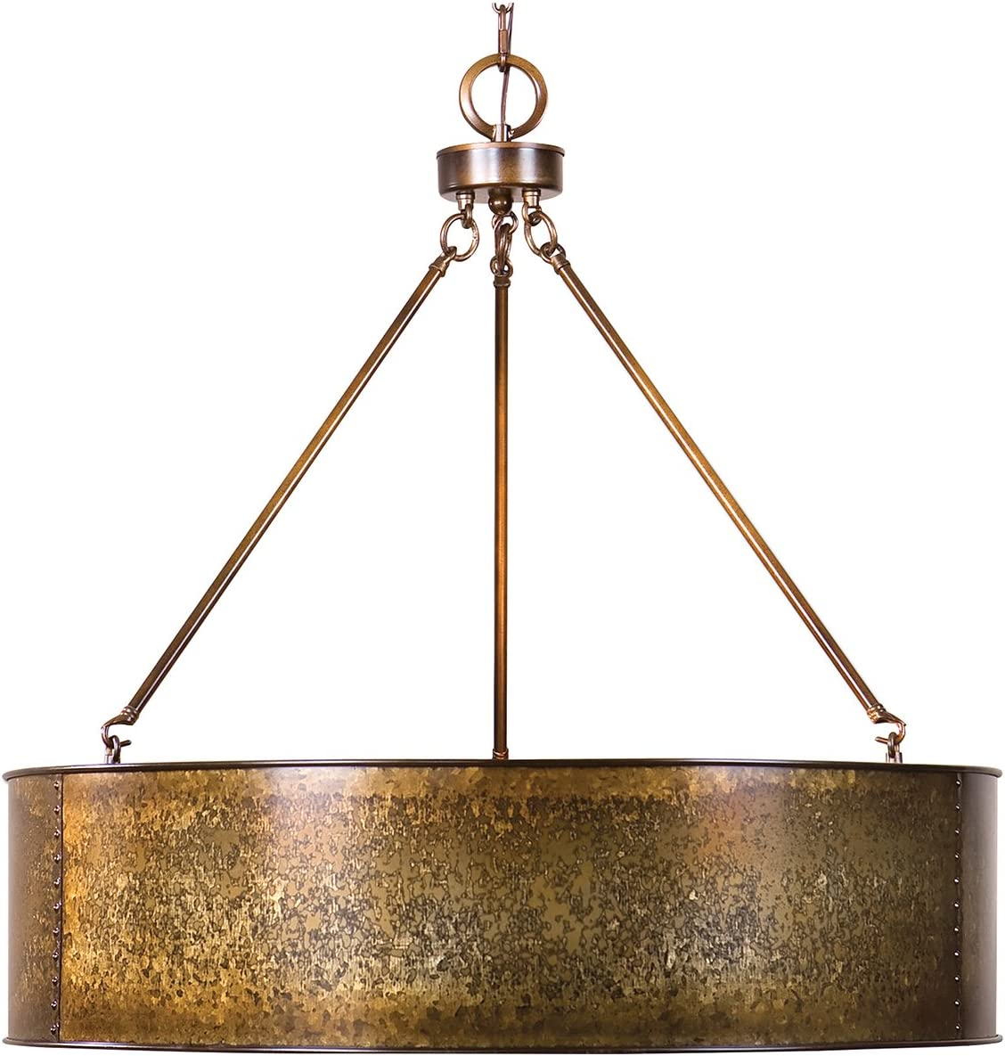 Uttermost 22067 Wolcott 5 Pendant, Light Gold
