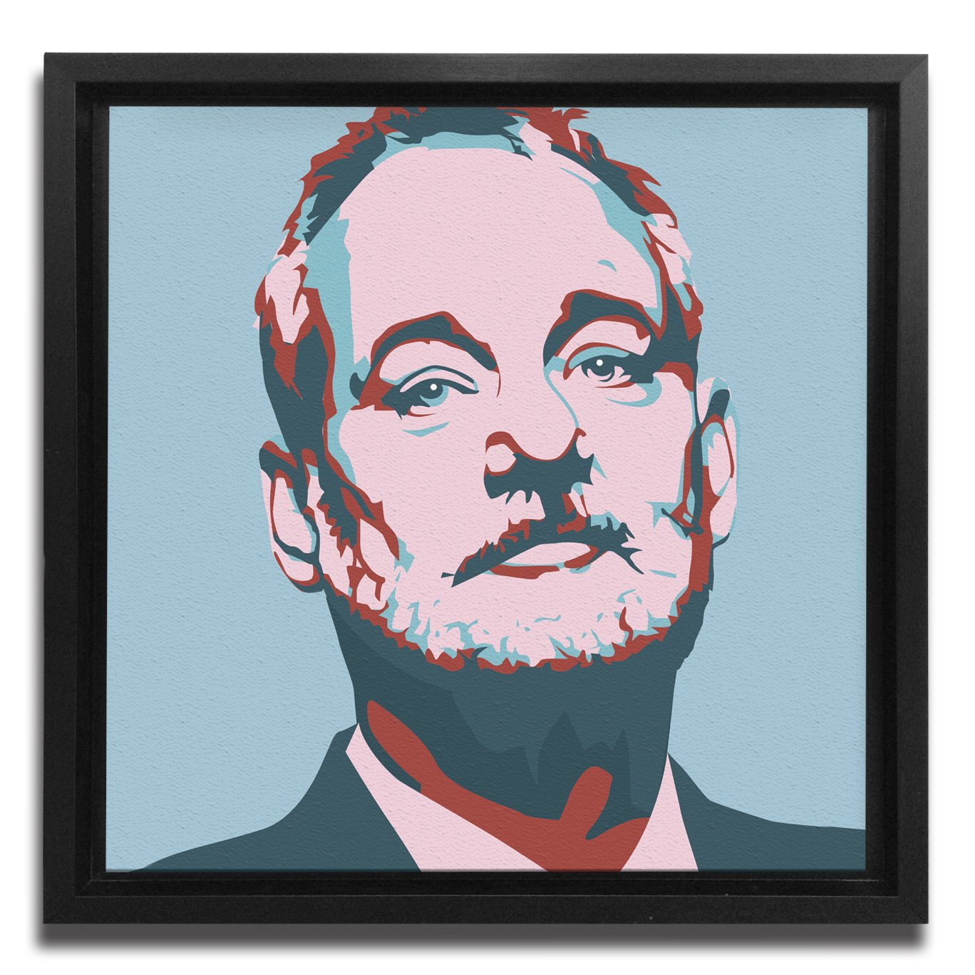 JP London Ready to Hang Made in North America Framed 1.5in Thick Gallery Wrap Canvas Wall Art Mural Bill Murray Two Warhol Baby Blue Chive 18in SQSFCNV2240