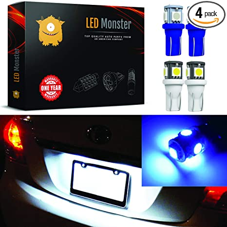 Amazon.com: LED Monster 4 bombillas LED de color blanco/azul ...