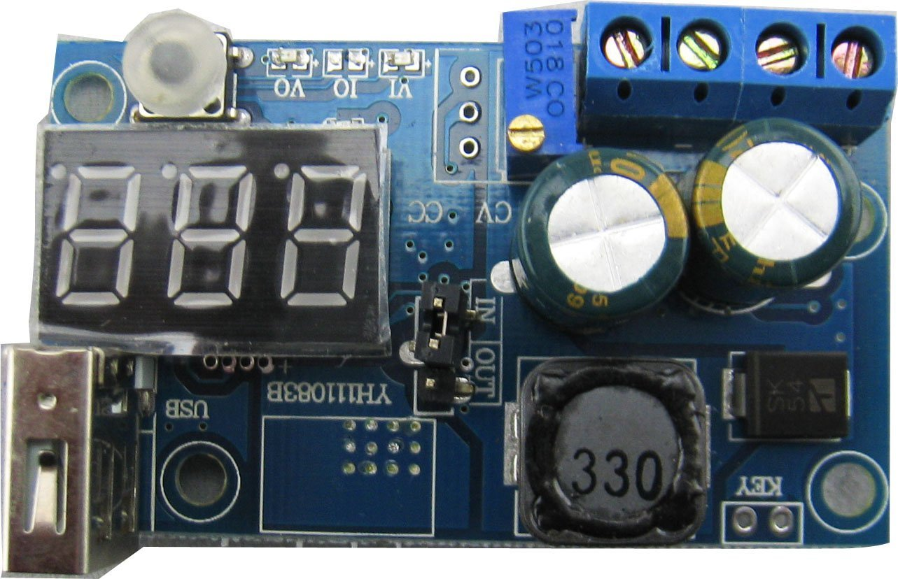 4 40v To 12 38v Yeeco Lm2596 Adjustable Step Down Voltage Power Supply Regulator Electronic Projects Circuits 9v 12v Variable Volt Module Dc Buck Converter With