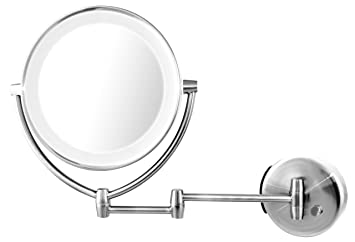 Amazon ovente wall mount led lighted makeup mirror 95 inch ovente wall mount led lighted makeup mirror 95 inch battery or usb adapter operated aloadofball Choice Image