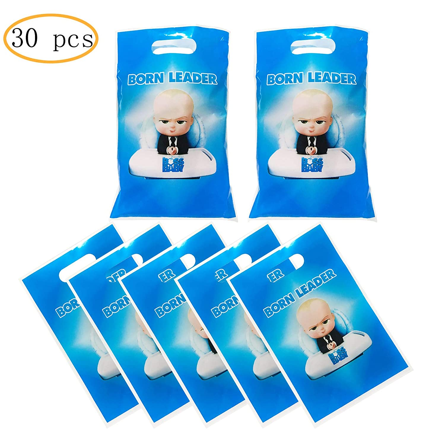 30 Packs Boss Baby Cute Party Gift Bags Boss Baby Gift Bags Party Supplies Birthday Decoration Gift Bags Well For Girls Or Boys