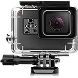 iTrunk Wasserresistente Schutzhülle/Gehäuse mit Schnellmontage-Klammer und Rändelschraube (Daumenschraube) für die GoPro Hero 6 Hero 5 Black Action Kamera