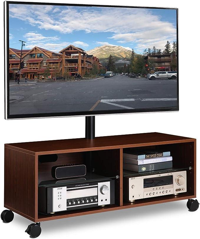 RFIVER Soporte TV con Ruedas para televisiones de 32 a 65 Pulgadas Giratorio y Altura Ajustable de Color Nogal TW5002: Amazon.es: Electrónica