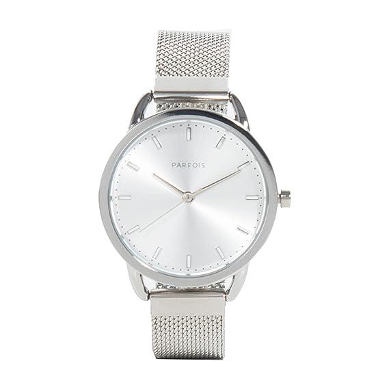 Parfois - Reloj Mesh - Mujeres - Tallas Única - Plateado 2: Amazon.es: Relojes
