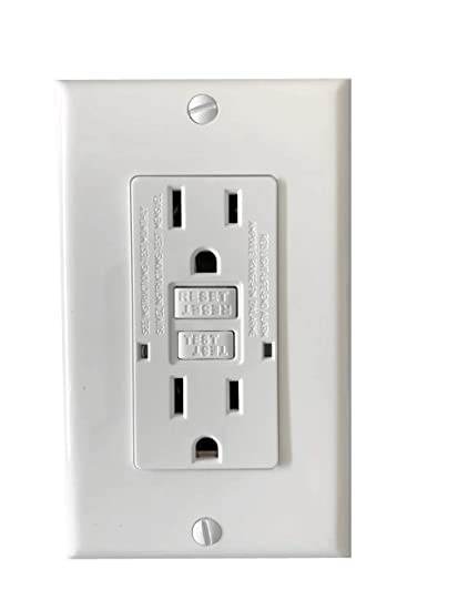 Bybon 15 Amp Duplex Self Test Gfci Receptacle Outlet Grounding