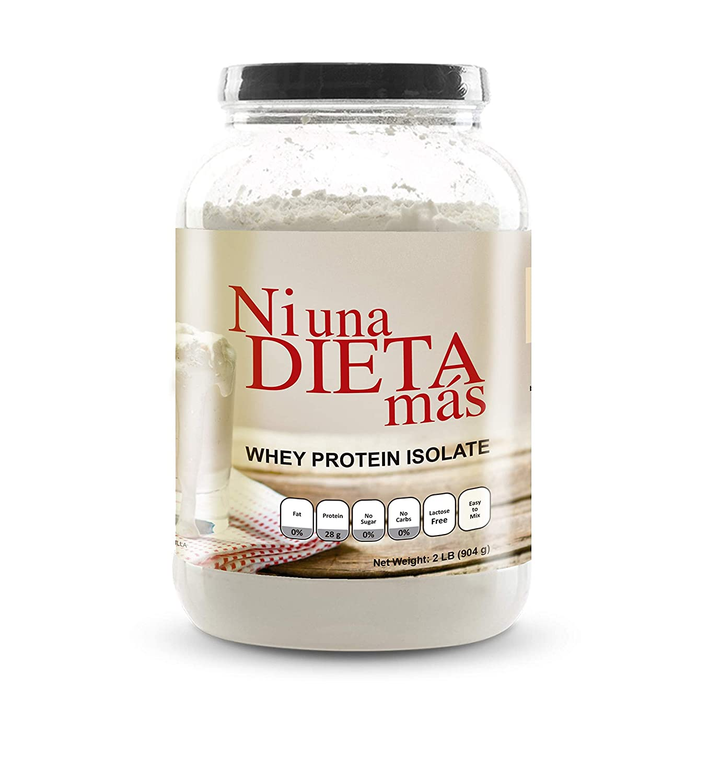 Amazon.com: NI UNA DIETA MAS - Whey Protein Isolate (Delicious Vanilla) No Sugar, No Lactose, Easy to Mix: Health & Personal Care