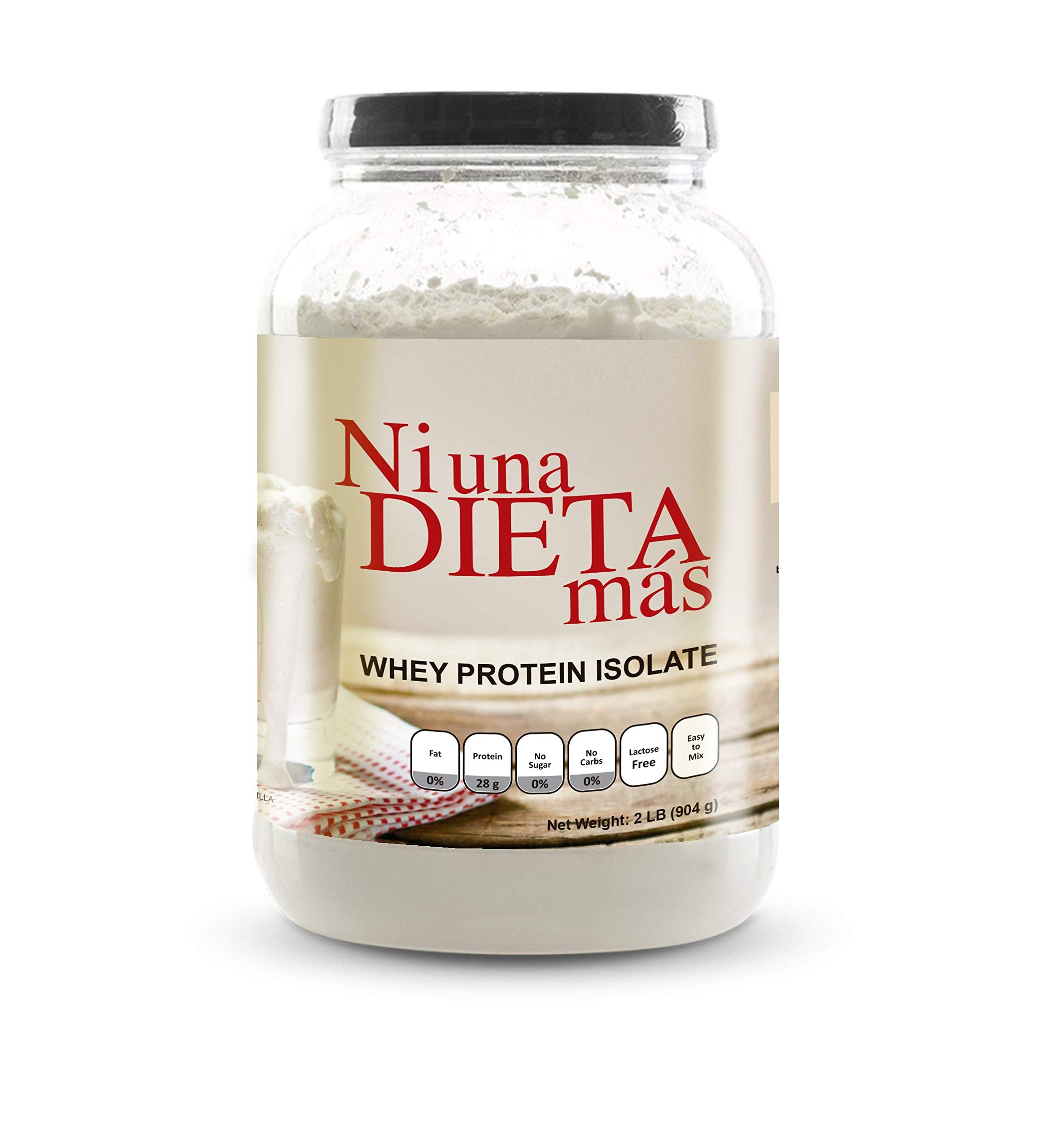 NI UNA DIETA MAS - Whey Protein Isolate (Delicious Vanilla) No Sugar, No