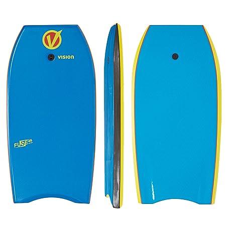 Vision Fuse - Tabla de bodyboard (45 pulgadas), color azul y amarillo: Amazon.es: Deportes y aire libre
