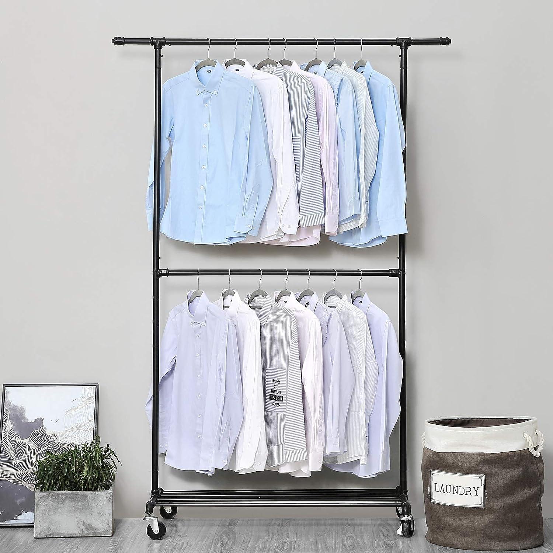 Amazon.com: SONGMICS – Perchero de ropa de estilo industrial ...