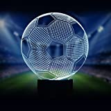Neuheit Fußball 3D Illusion Lampe führte Nacht Licht mit 7 Farben blinken & Touch-schalter USB-Stromversorgung Schlafzimmer Licht Schreibtischlampe Lampen für Kinder Geburtstag Geschenke Haus Dekoration