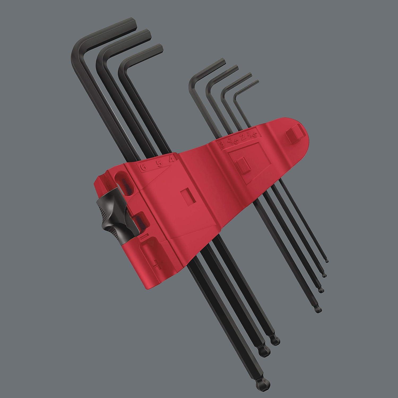 BlackLaser 9 Piece Wera Tools 05073596001 Wera Hexagon 950 PKL//9 BM SB L-Key Set Ballpoint Hex Key