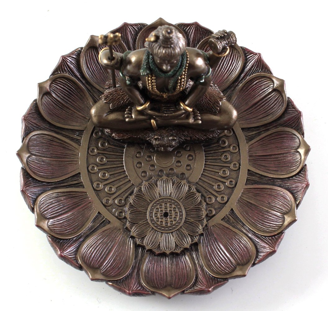 Top Collection Hindu God Shiva in Meditation Round Incense Holder Plate Incense Burner by Top Collection (Image #6)