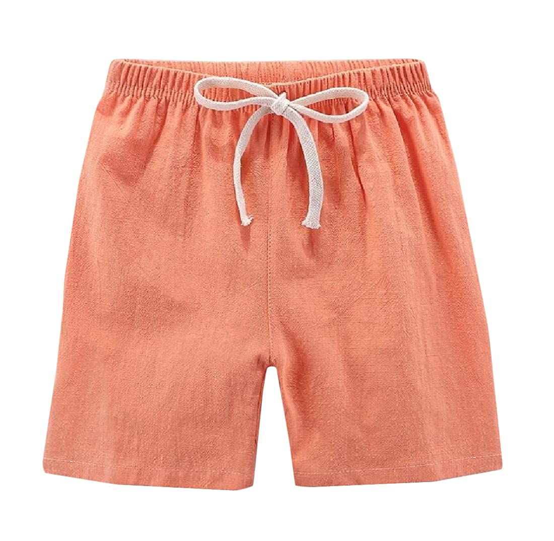 Hajotrawa Boys All-Match Girls Solid Cotton Sports Cute Short