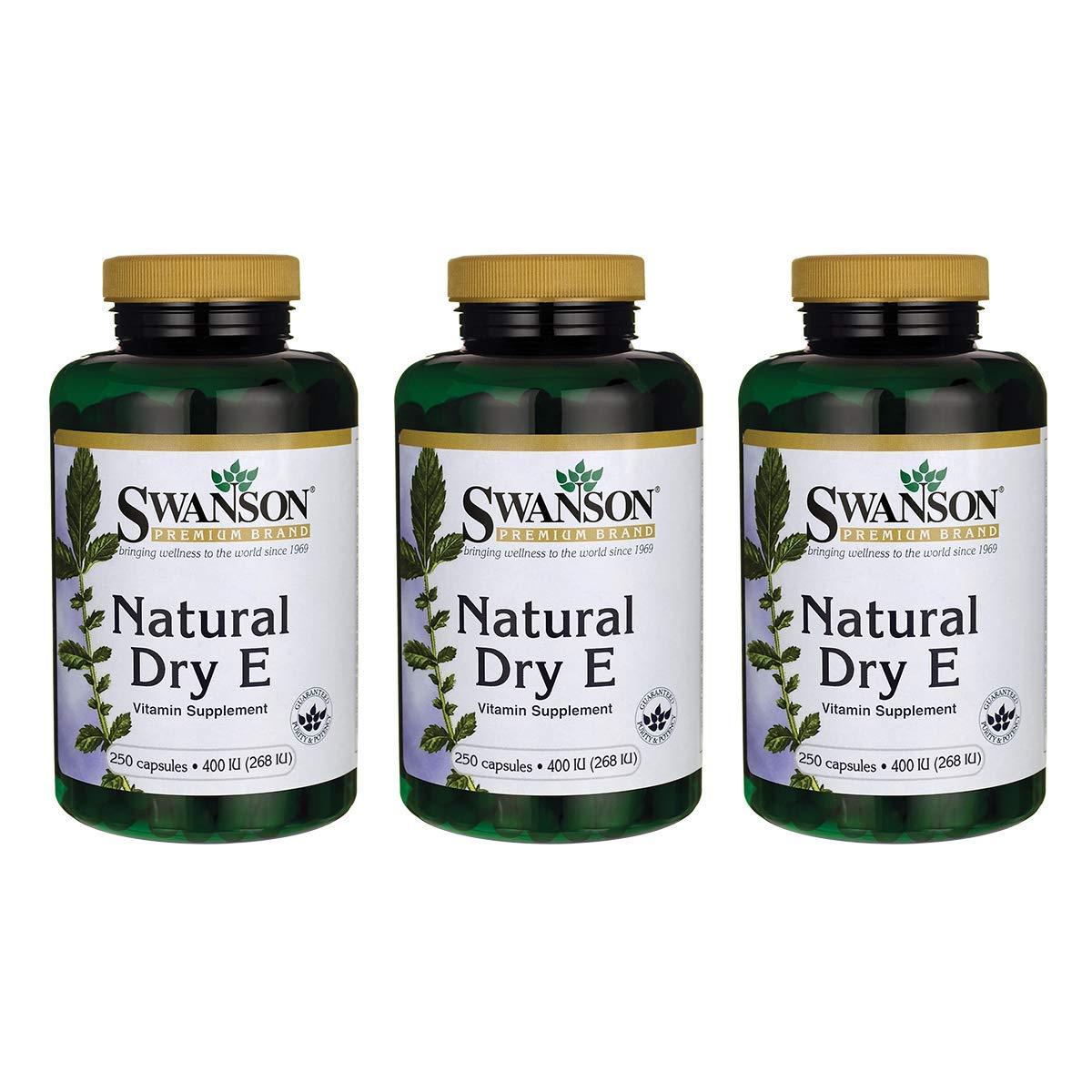 Swanson Natural Dry Vitamin E 400 Iu (180.2 Milligrams) 250 Capsules (3 Pack)