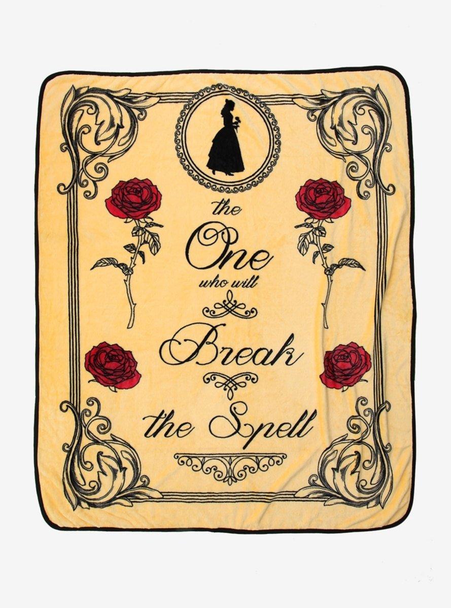 Disney Beauty and the Beast Break The Spell Throw Blanket   B076JHP4HP