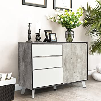Interesting Sideboard Schrank Ihouse Tr Schubladen Sideboard Retro Stil Moderne  Wohnzimmer Mbel With Sideboard Marmorskiva