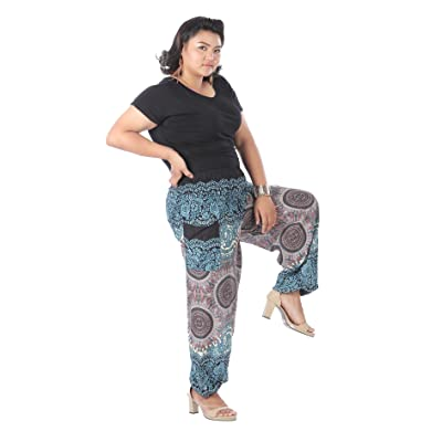 CandyHusky Mandala Print Baggy Gypsy Hippie Boho Yoga Harem Pants Plus Size