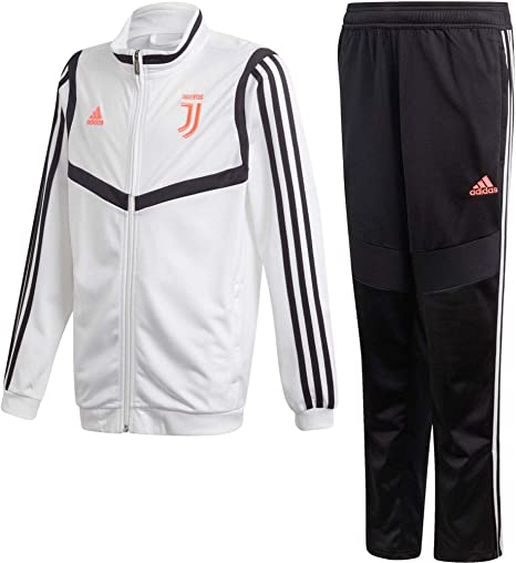 Juventus DX9115 JUVE PES SUIT 2020 Junior Tuta adidas training ufficiale F.C