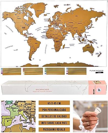 Cartina Mondo Da Parete.Flamingueo Mappa Da Grattare Mappa Del Mondo Da Grattare Cartina Geografica Mondo Da Parete Mappa Del Mondo Mappamondo Interattivo Idea Regalo Mappamondo Da Parette 45 5 X 100 X 0 5 Cm Amazon It