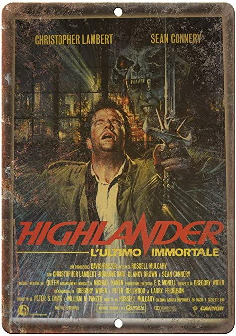 Amazon.com: Sean Connery Highlander Movie Tin Sign Vintage ...