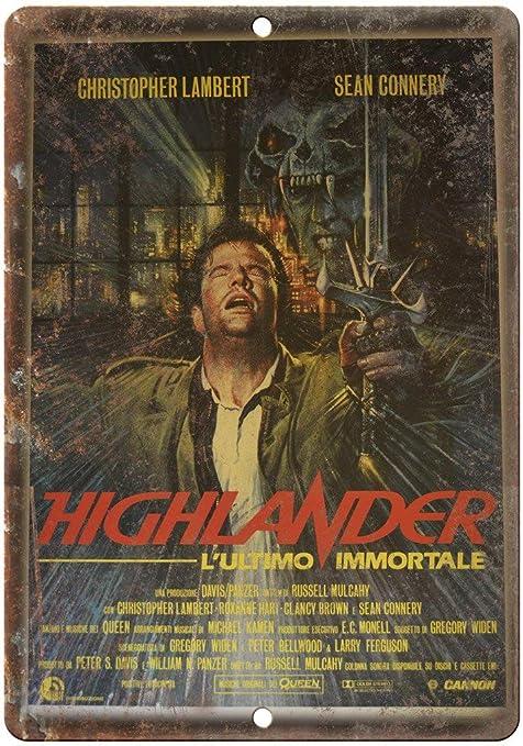 Amazon.com: Sean Connery Highlander Movie Tin Sign Vintage ...