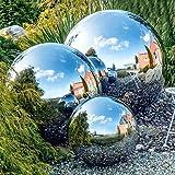 zosenda Stainless Steel Gazing Ball, 6 Pcs 50-150