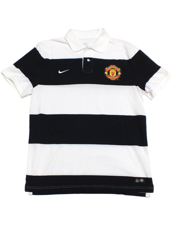 Nike Manchester United Polo camiseta 423953 A rayas 010 preciosa ...