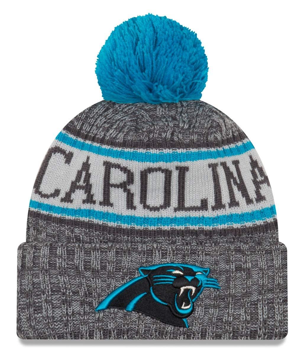 82be9c95 New Era Carolina Panthers Gray/Graphite Sport Knit NFL 2018 Beanie Unisex  Hat Graphite, OSFM