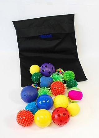 TickiT 72446 Bolsa con pelotas sensoriales, 20 piezas ...