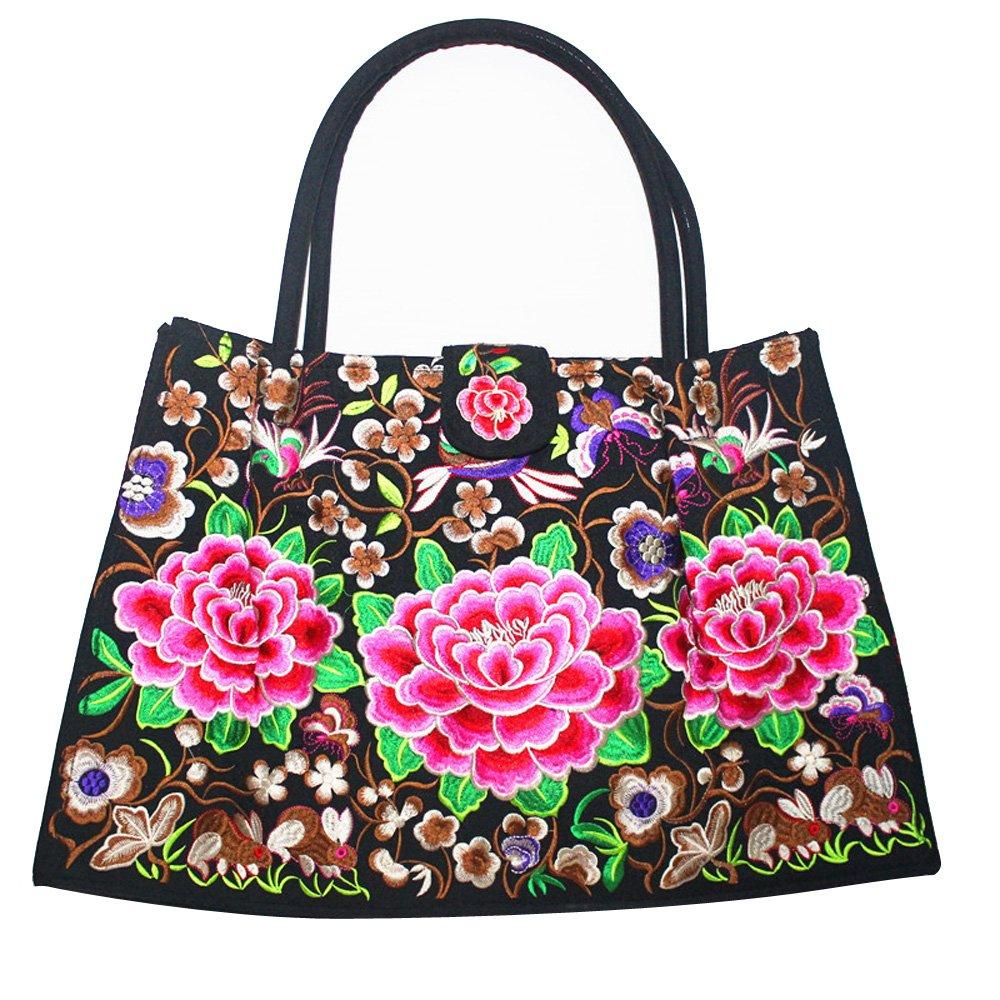 Firstkid National Style Embroidery Single-shoulder Bag Embroidery Handbag Big Bag Red