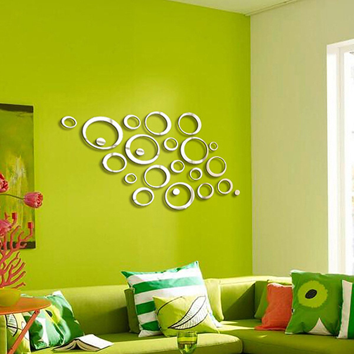 Amazon.com : Fashion 24pcs Circular Wall Sticker Decal Poster DIY ...