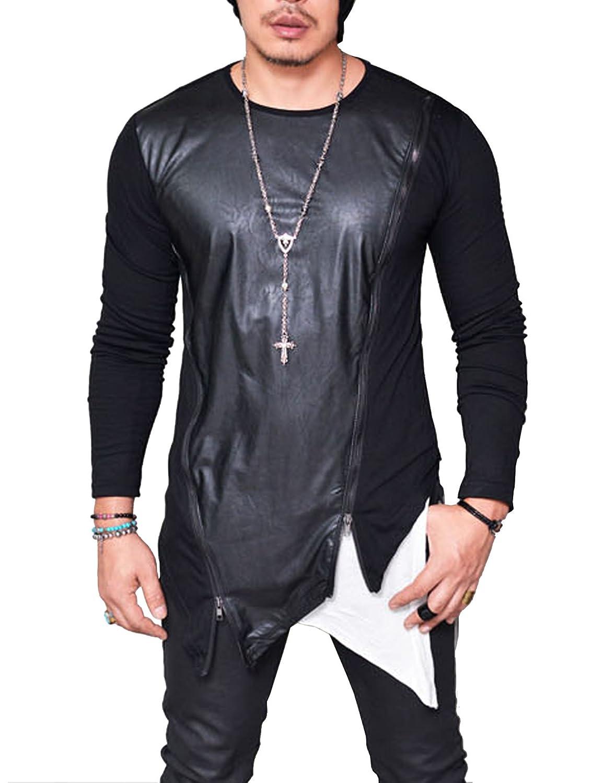COOFANDY SHIRT メンズ B0786D6XNG L|ブラック ブラック L