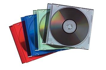 Fellowes 98317 - Pack de 25 Cajas Estuche para CDs/DVDs Slim