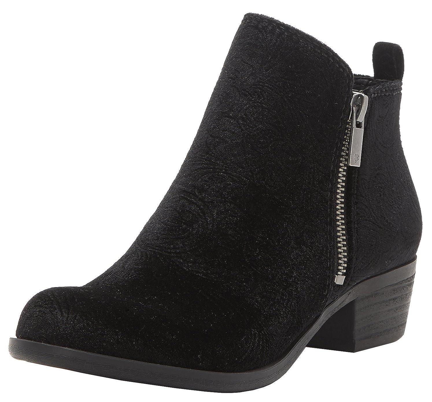 Black Velvet Lucky Brand Women's Basel Ankle Boot