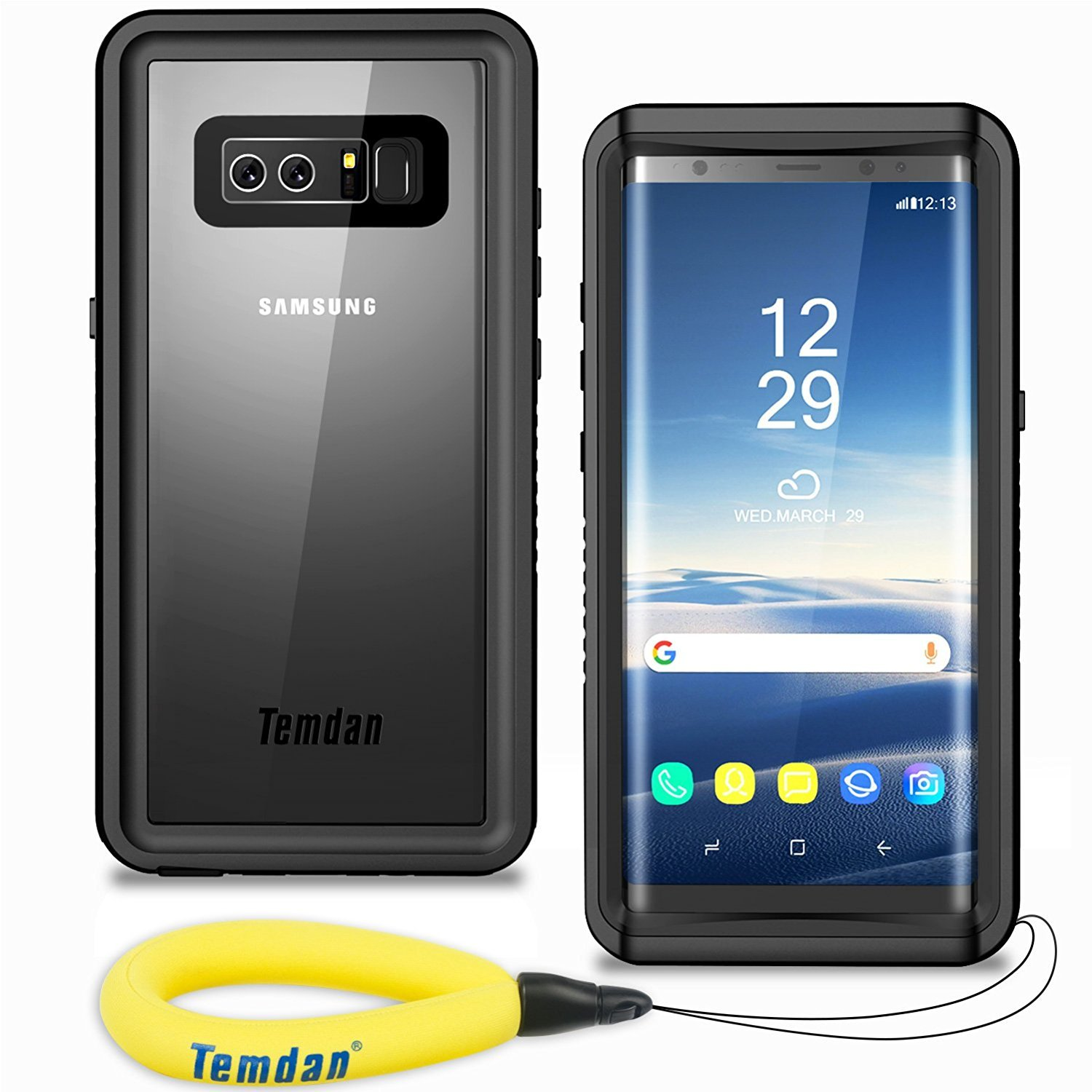 Temdan Note 8 Waterproof Case, Support Wireless Charging Shockproof Snowproof Case with Kickstand Built in Screen Protector IP68 Waterproof Case for Samsung Galaxy Note 8 4335010150