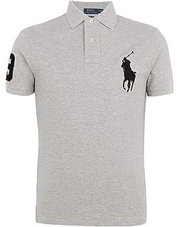 Ralph Lauren Men s Polo Shirt Big Pony Custom Fit  Amazon.co.uk ... 7ce111f9e83