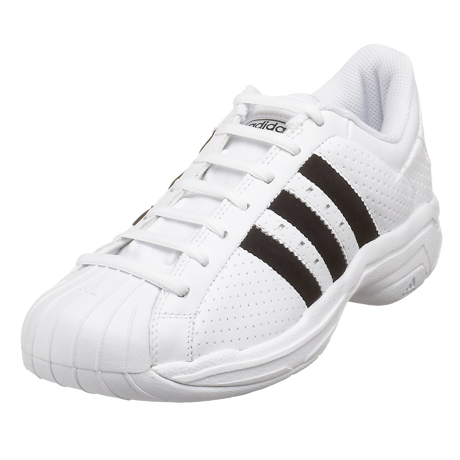 adidas Men's Superstar 2G Perf Basketball Shoe, White/Black, 11 M