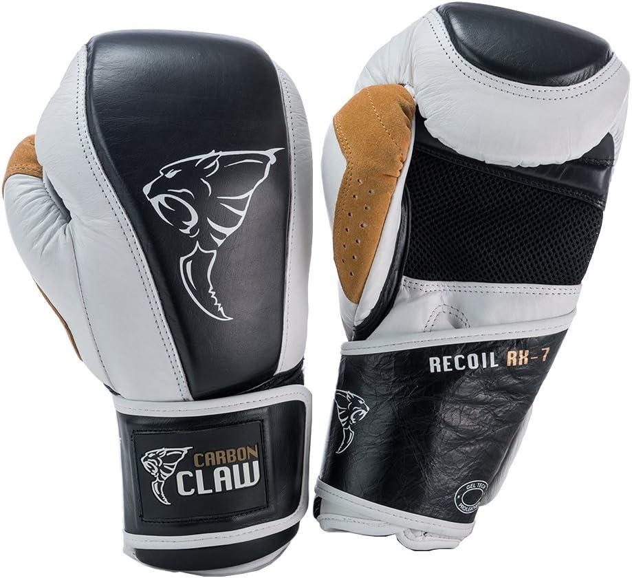 カーボンClaw Recoil rx-7レザーバッグ手袋、color-ホワイト/ブラック、weight- 16oz