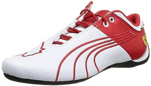 Puma Men s Future Cat M1 SF Catch White and Rosso Corsa Leather Boat Shoes  - 12UK 4e634d835
