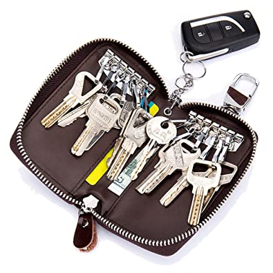 Amazon.com: Aladin - Cartera de piel para llaves con 12 ...