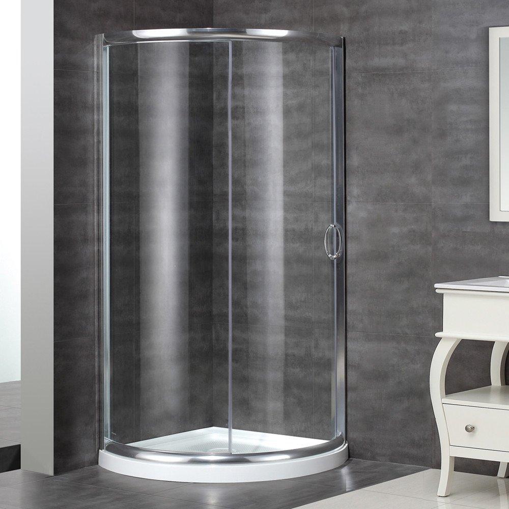 Aston SDIII  Round Shower Enclosure With Shower Tray - 36 x 36 corner shower stall