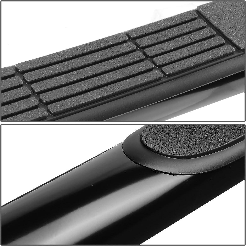 DNA MOTORING STEPB-3-041-BK Stainless Steel 3 Side Step Nerf Bar Running Board
