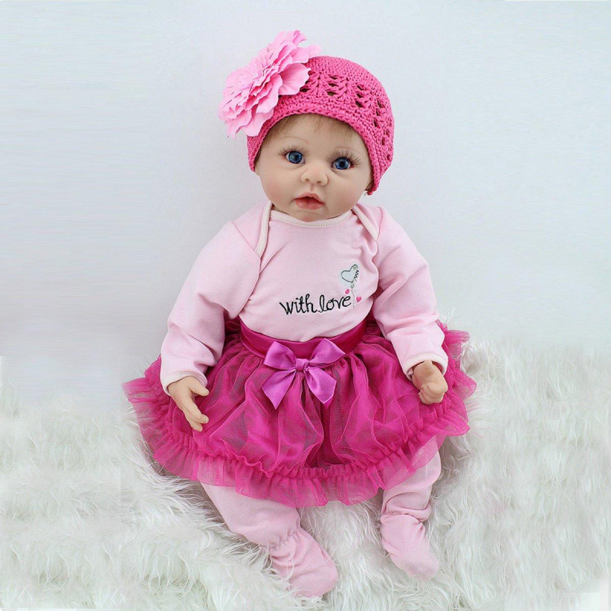 Yihang Rebornボディシリコンビニール人形Sleeping Boy Babies 22インチ55 cmフルAlive Baby Realビニールベリーキッズおもちゃ子供誕生日ギフト   B07BTMMV93