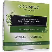 REGROWZ Women's 100% Natural Topical Hair Restoration Treatment for Regrowth, Hair Loss, Thinning, DHT Blocker…