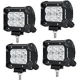 "Auxbeam LED Light Bar 4"" 18W led off road lights 1800LM LED Light Pods 6Pcs 3w CREE Flood Beam Waterproof for Trucks Pickup Jeep SUV ATV UTV(Pack of 4)"